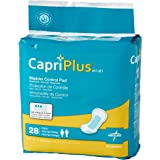 "Medline BCPE02  Capri Plus Bladder Control Pads, 6.5"" x 13.5"" (Pack of 168)"