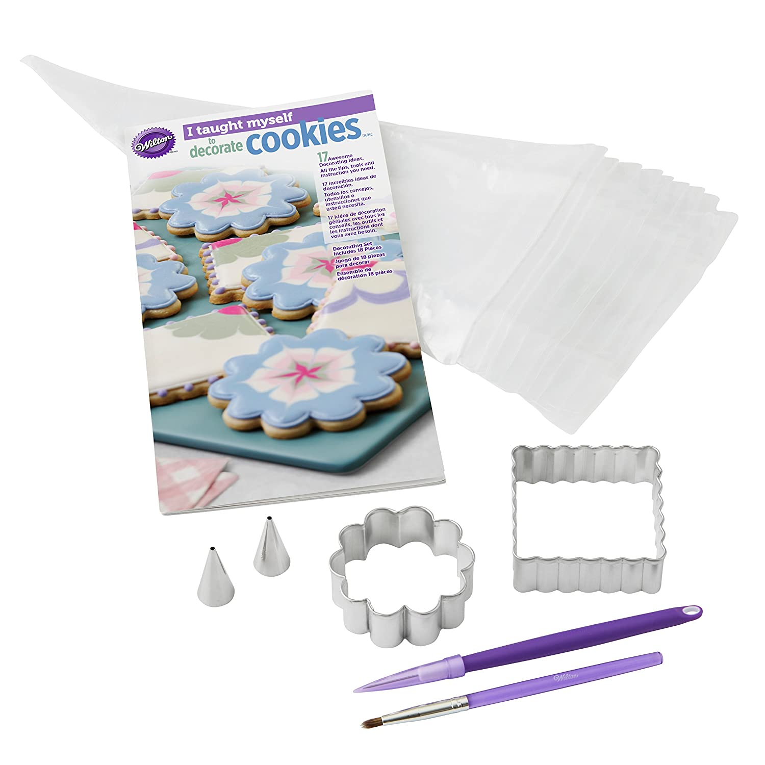 Wilton Industries 2104-7553I Taught Myself Cookie Decorating Book Set