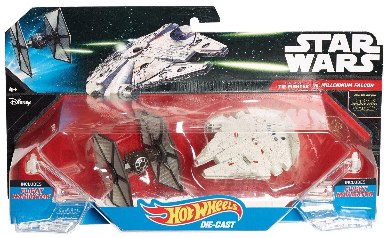 Hot Wheels Star Wars: The Force Awakens Tie Fighter Vs. Millennium Falcon CGW95