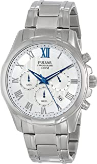 Pulsar Mens PT3399 Analog Display Japanese Quartz Silver Watch