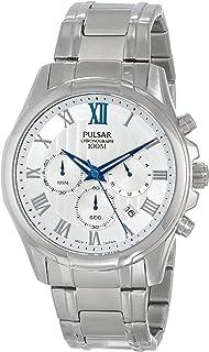 Pulsar Mens PT3399 Analog Display Japanese Quartz Silver Watch