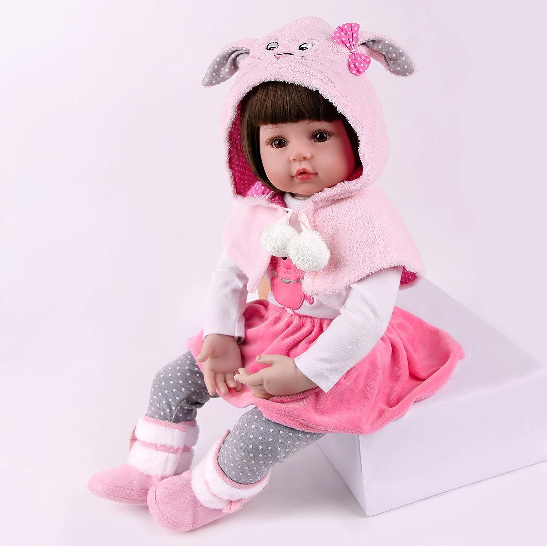 iyiui 24 60cm rinascita bambola grande occhi morbido silicone vinile realizzato a mano giocattoli neonati regalo di compleanno
