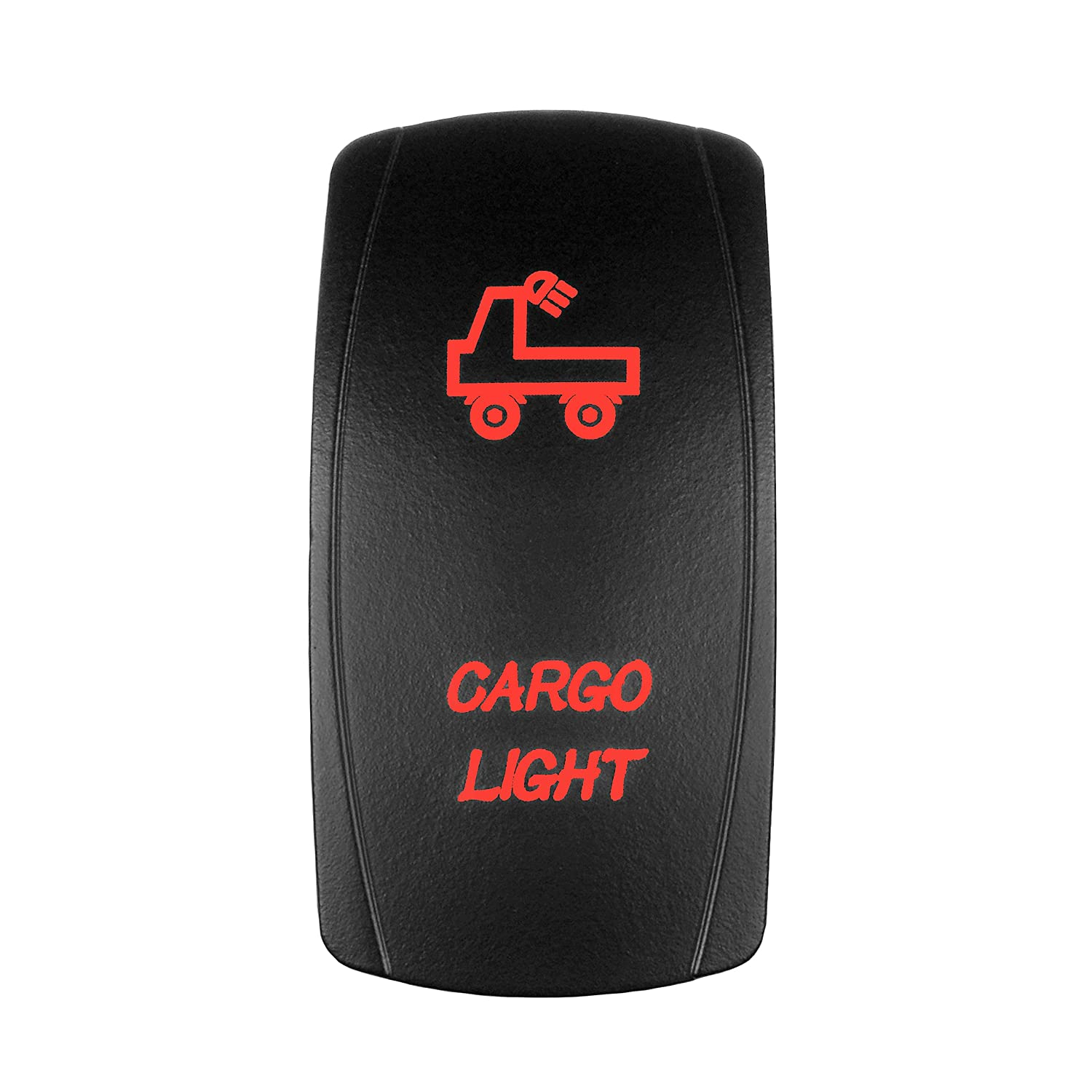 MICTUNING LS08302 5pin BIGFOOT Rocker Switch ON-OFF LED Light 20A 12V Red