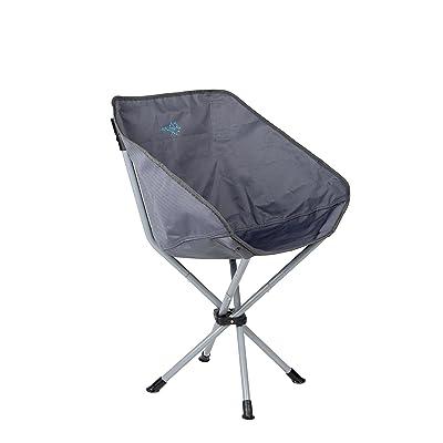 Bo-Camp Chaise pliable - Compact - Acier - Anthracite