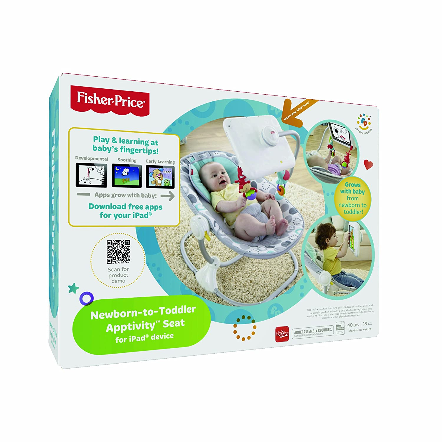 Amazon Fisher Price Ipad Apptivity Seat Newborn to Toddler Baby