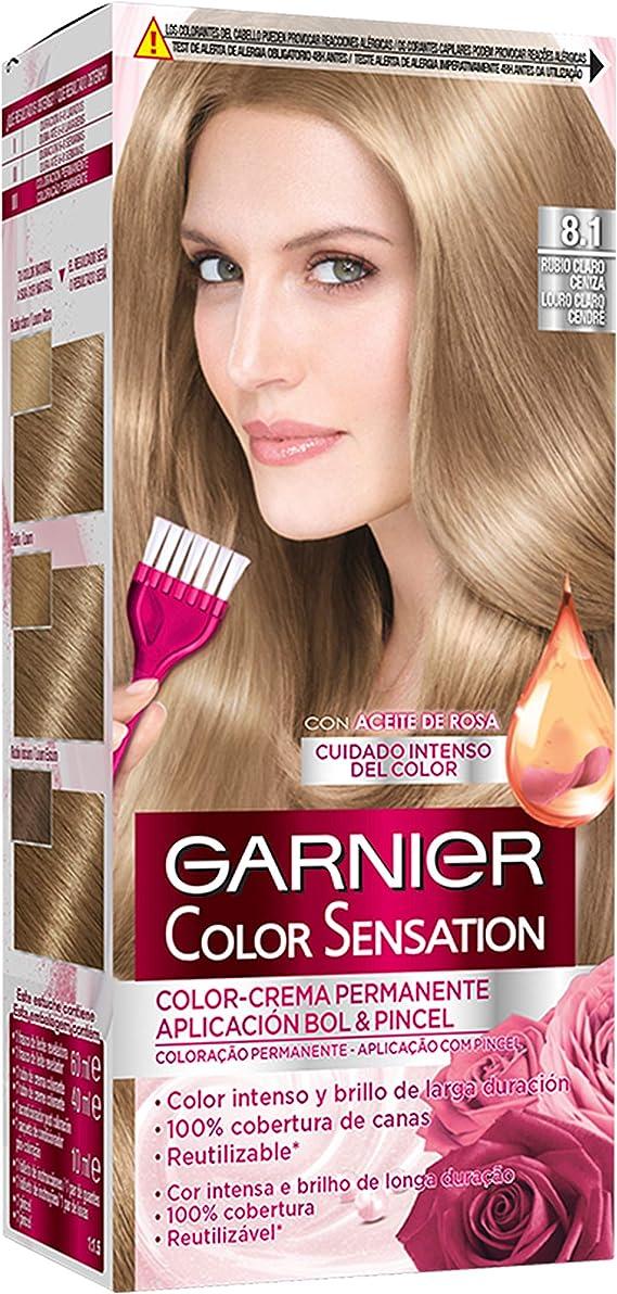 Garnier Color Sensation - Tinte Permanente Rubio Claro 8.1, disponible en más de 20 tonos