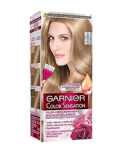 Garnier Color Sensation Coloración permanente, Tono: nº8.1 - [paquete de 3