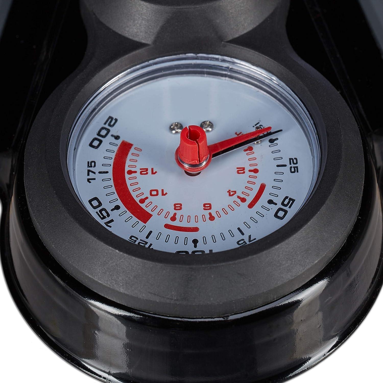 Adapter 70 cm Relaxdays Profi Standpumpe mit Manometer schwarz alle Ventile Universal Luftpumpe Doppelpumpenkopf