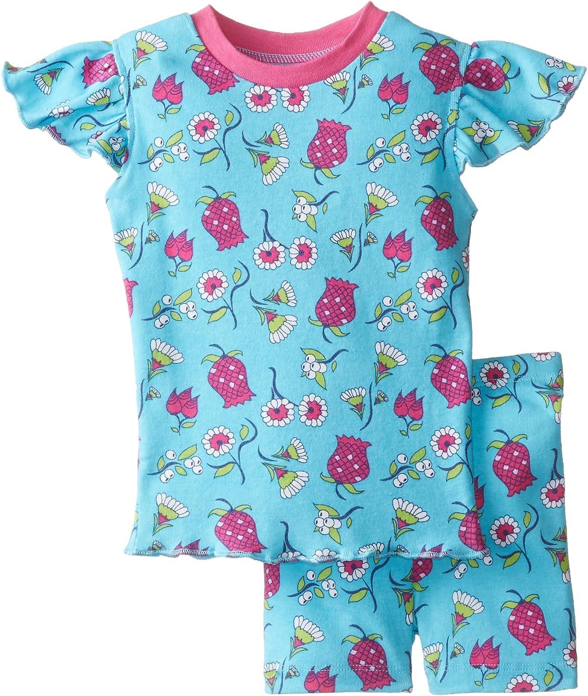 New Jammies Baby Girls Baby Pajamas Short Set Ottoman Flowers