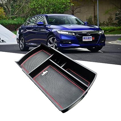 R RUIYA 2018 Honda Accord Car Accessory Center Console Organizer Tray  Armrest Storage Box Compatible LX