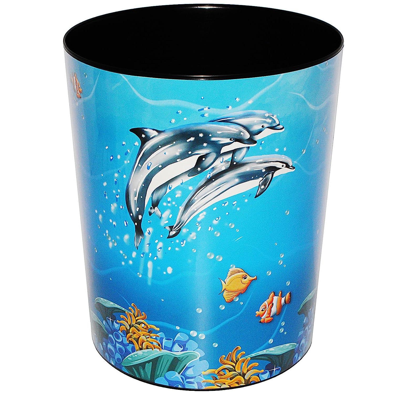 alles-meine.de GmbH Papierkorb / Behälter - Delfine & Fische - Unterwasserwelt - Incl. Name - .. alles-meine.de GmbH Goldbuch