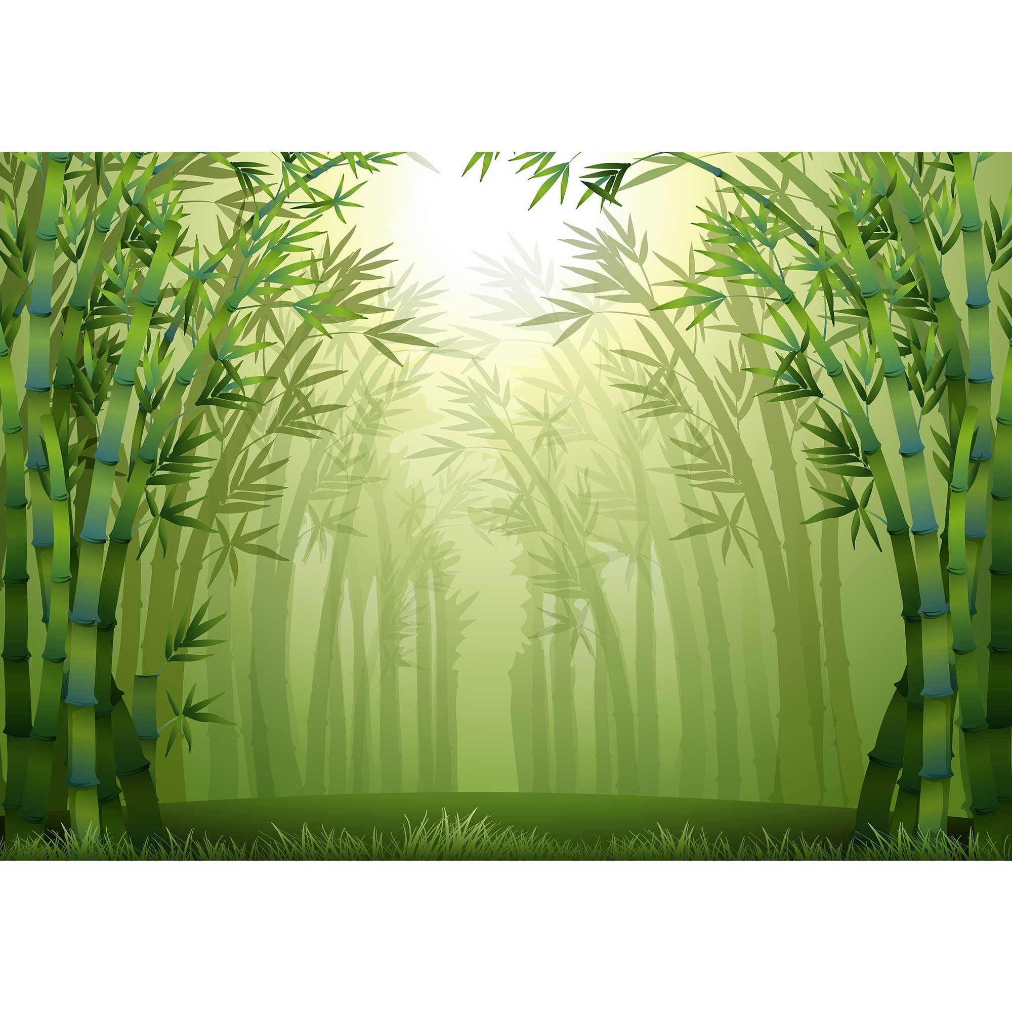 wall26 - Illustration of The Bamboo Trees Inside The Forest - Removable Wall Mural | Self-Adhesive Large Wallpaper - 100x144 inches by wall26 (Image #2)