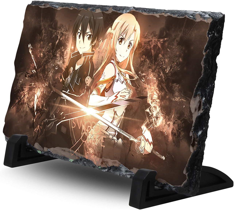 Sword Art Online Natural Rock Slate with Stand Anime Desk Art