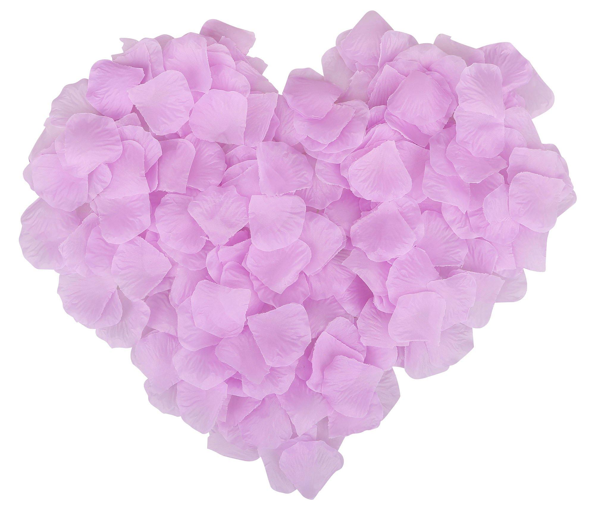 Ablest-1000-Pcs-Wedding-Bridal-Shower-Decoration-Artificial-Silk-Flower-Petals-Light-Purple