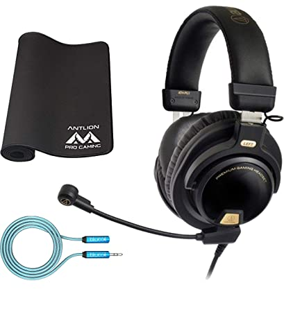 955666dbe90 Amazon.com: Audio-Technica ATH-PG1 Gaming Headset for PC, PS4, Mobile Phone  Bundle with Antlion Audio Pro Gaming Mousepad and Blucoil 6-Ft Extension  Cable: ...