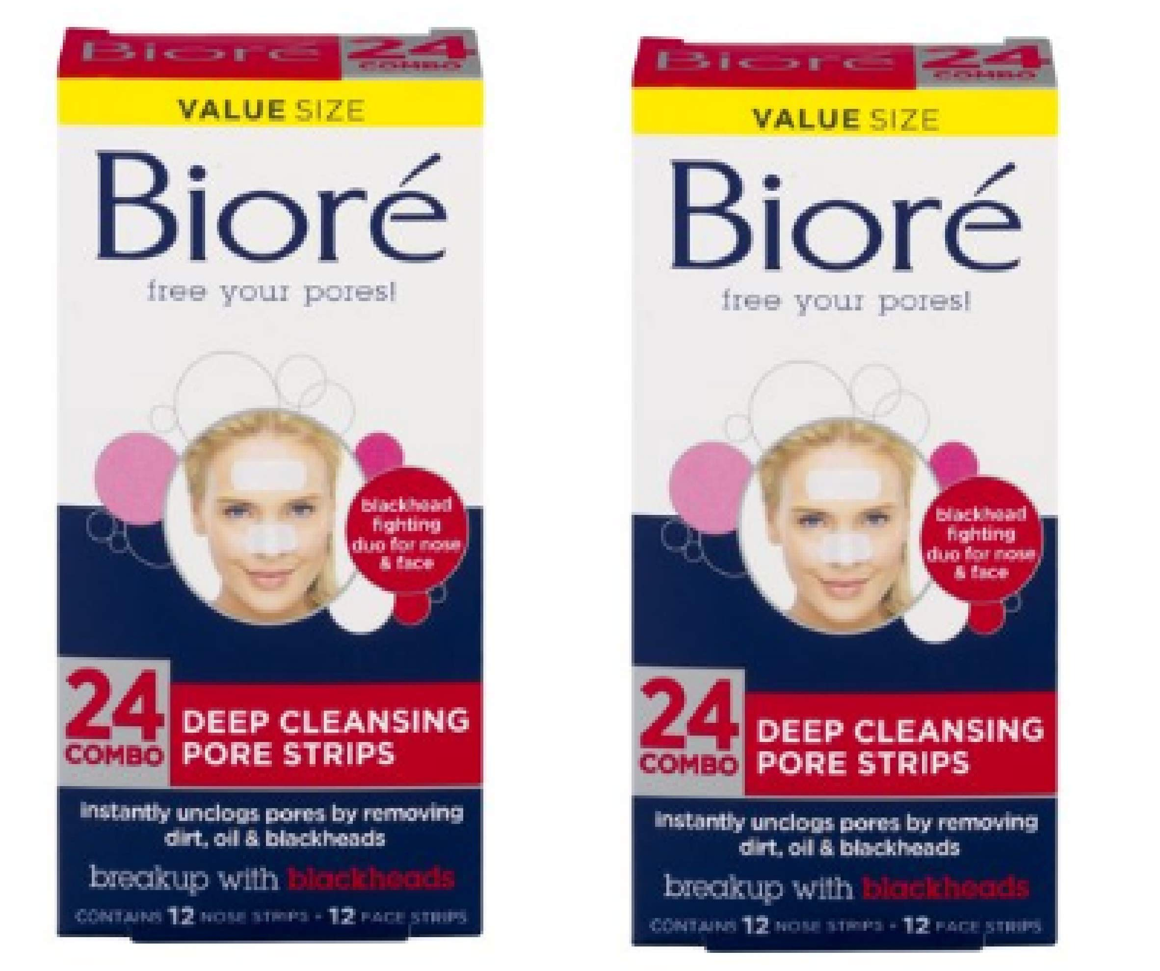Deep Cleansing Pore Strips Combo Pack, 24 Count (Pack Of 2)