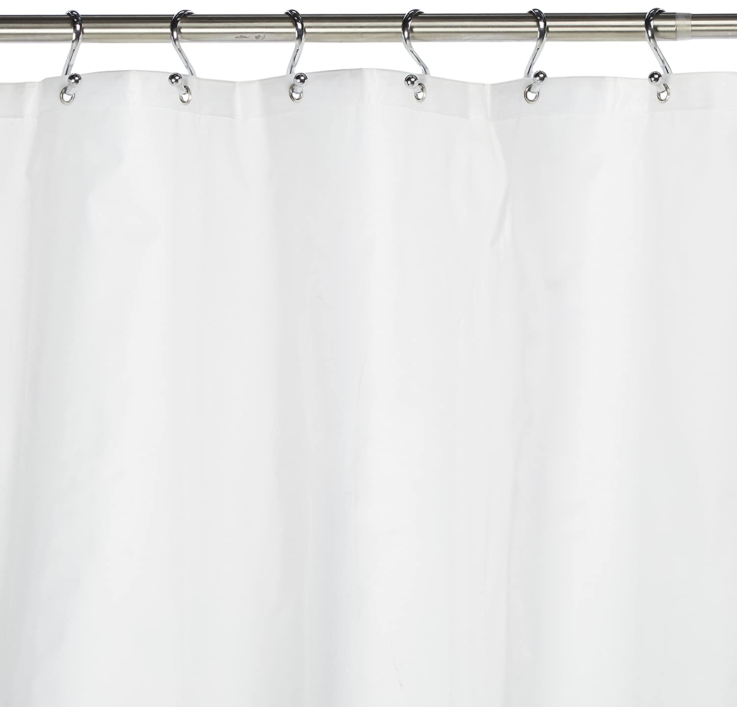 Amazon Carnation Home Fashions 10 Gauge PEVA 72 By 96 Inch Shower Curtain Liner X Long White Kitchen