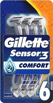 Gillette UEFA LDC Sensor3 Comfort - Afeitadora desechable para ...
