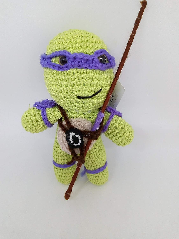 Peluche donatello tortugas ninja hecho a mano a ganchillo ...