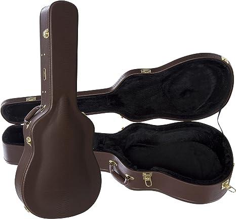 DA-1 Dreadnought Estuche para guitarra Marr�n oscuro: Amazon.es: Instrumentos musicales