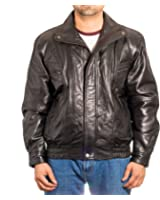 Men/'s German Major Military Style Cowhide Leather Long Double Breasted Peacoat