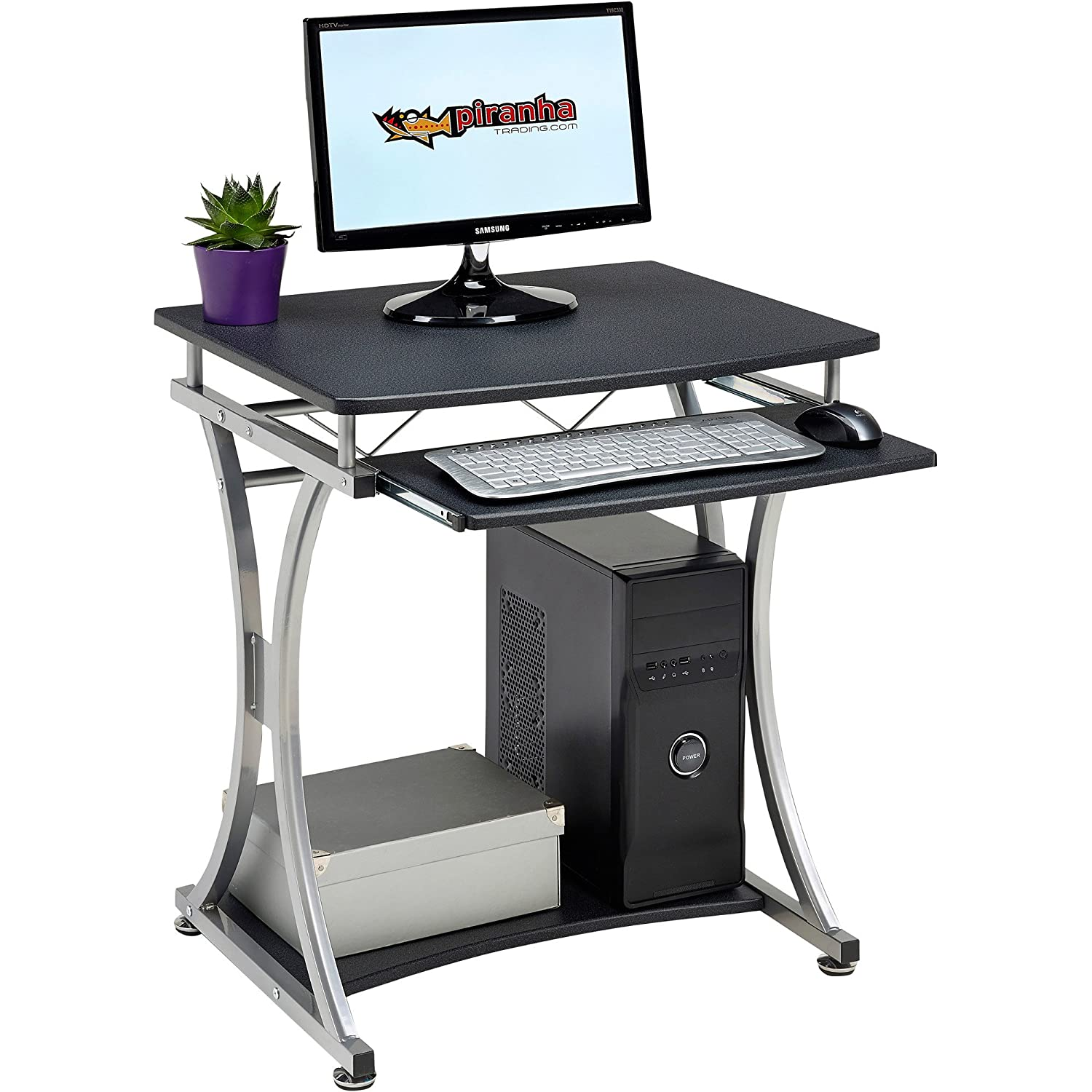 Compact Computer Tables For HomeCompact Steel Computer
