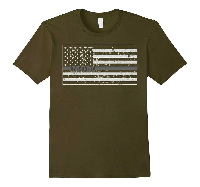 Correction Officer Prison Guard Mom Shirt Flag-TH