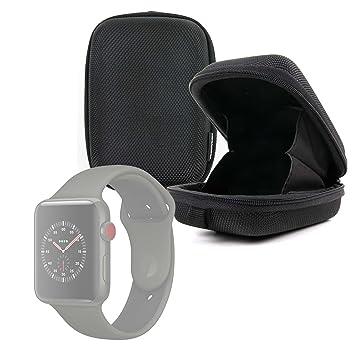 Duragadget - Etui Noir Antichoc Rigide pour Montre connectée Apple iWatch 3ème série Nike+, Hermes