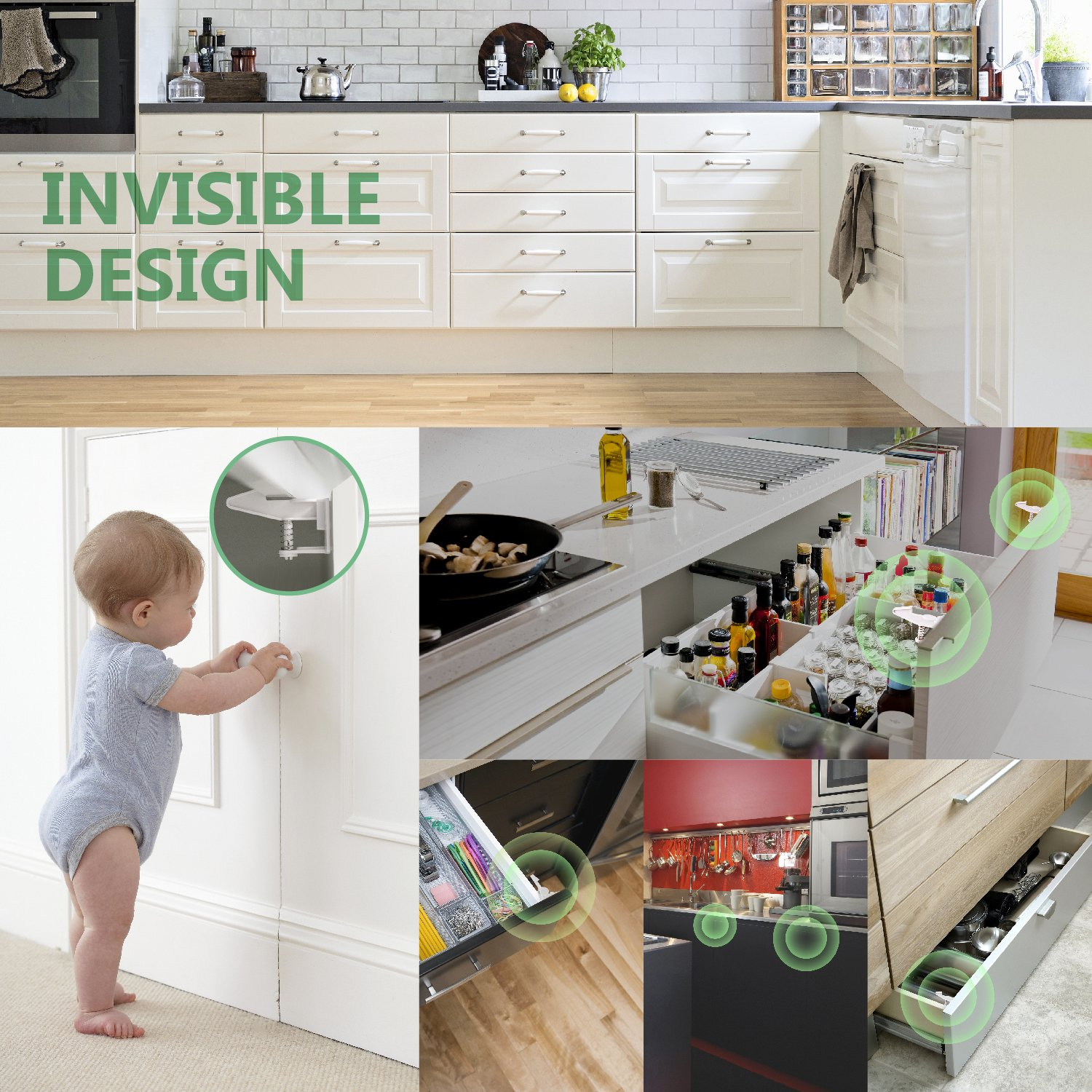 Cabinet Locks Baby Proofing Child Safety Locks 10 Packs No Tools Or