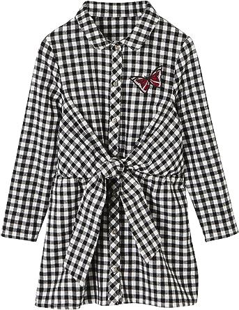 Vertbaudet Robe Vichy Fille Carreaux Noir 14 A Amazon Fr Vetements Et Accessoires