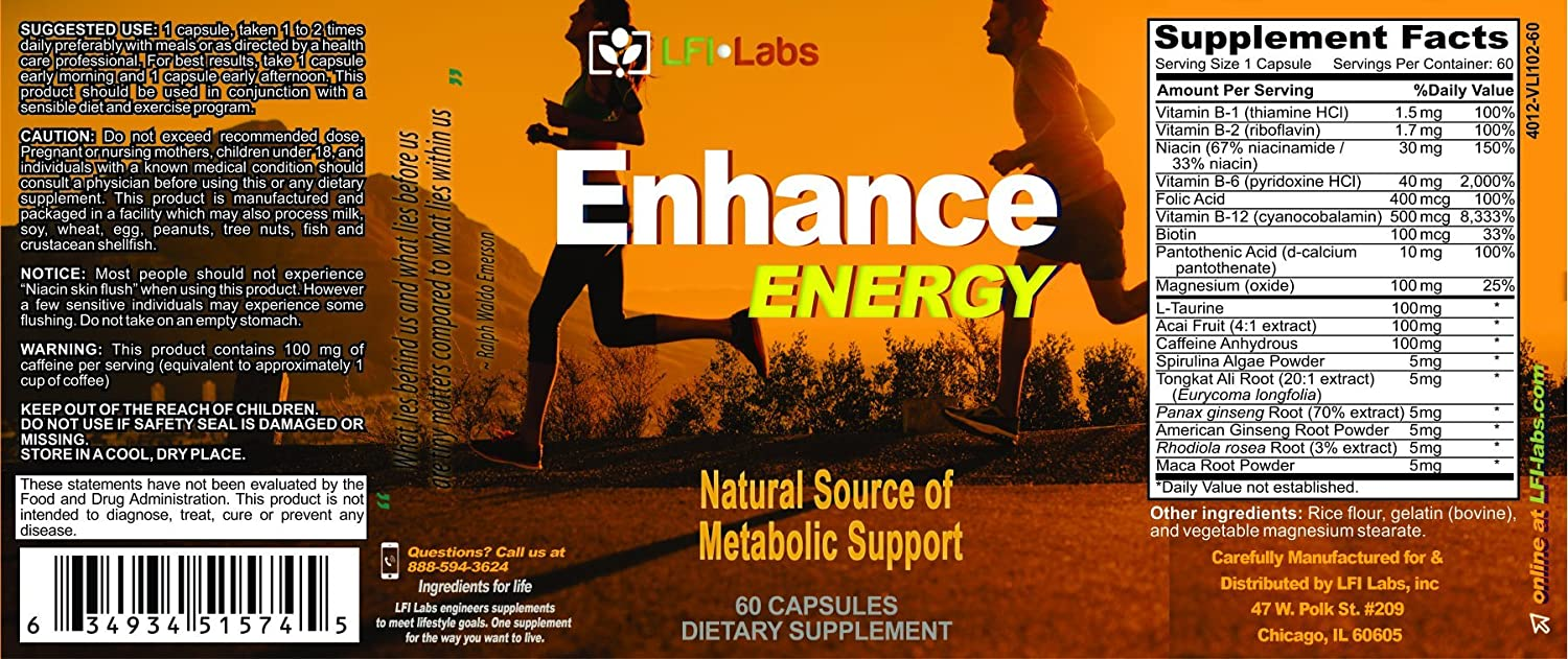 Source international products font stacking - Amazon Com Enhance Energy Caffeine Fat Burning Stack For 6 Solid Hours Of Metabolic Energy Concentration And Focus Supplement Plus Antioxidants