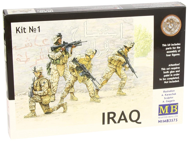 4 Master Box USMC Soldiers Iraq Set # 1 1:35 Scale Figure Model Building Kits Stevens International MTB-3575