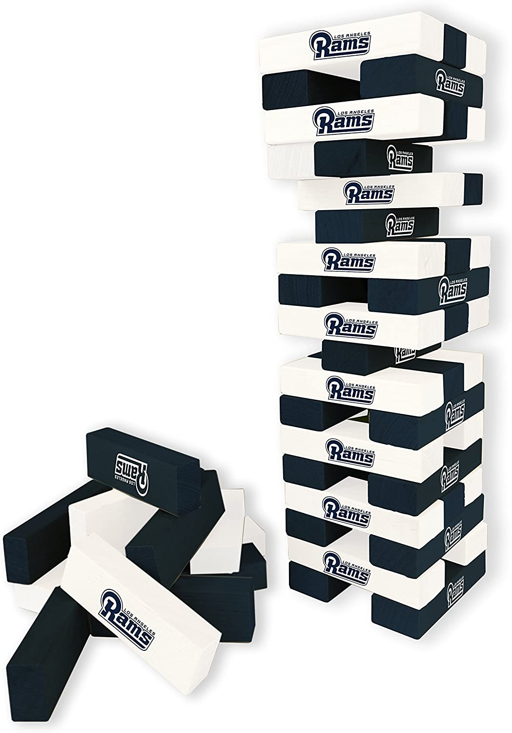 Wild Sports NFL Los Angeles Rams Table Top Stackers Game
