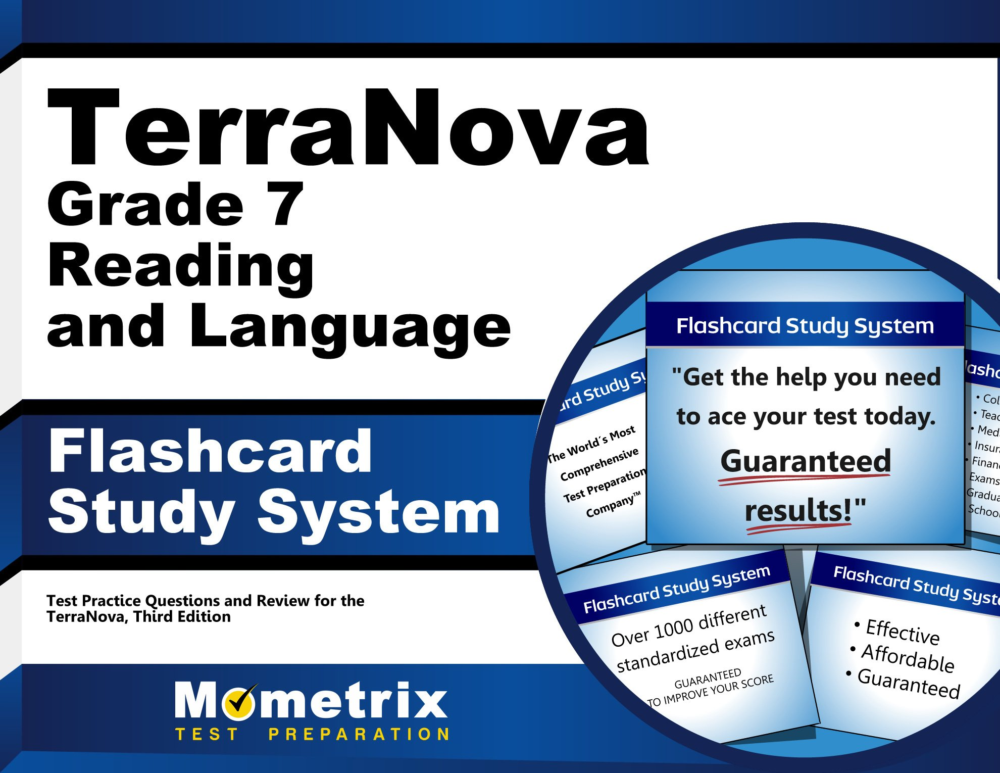 TerraNova Grade 7 Reading and Language Flashcard Study System: TerraNova Test Practice Questions & Exam Review for the TerraNova, Third Edition (Cards)