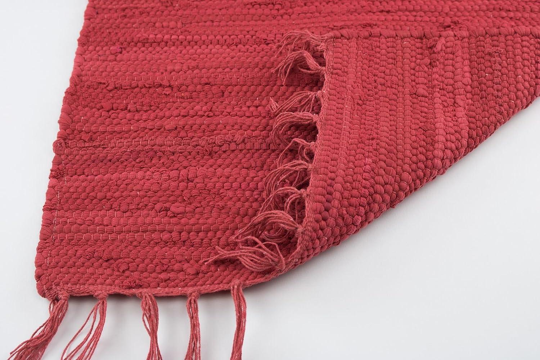Taracarpet Flachweb-Baumwollteppich handgewebter handweb-Teppich Amrum Fleckerl Amrum handweb-Teppich aus 100% Baumwolle -Auch Bekannt als Dhurry Oder Flickenteppich Uni Anthrazit 120x180 cm b763dc