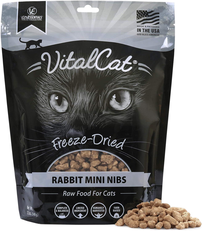 Vital Essentials Vital Cat Freeze-Dried Rabbit Mini Nibs Cat Food, 12 oz
