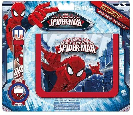 Kids Spiderman, set billetera y reloj digital (MV16072)