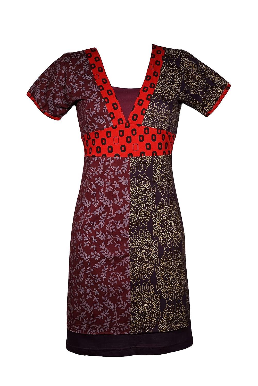 Trendy Sommerkleid mit graphischen Mustern - Boho Chic - 100% Baumwolle - Tia