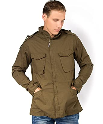 91e6ded01407 Brave Soul Mens Cotton Jacket Military M65 Field Jackets Heavy Twill  Designer Bomber Jacket (S - Small