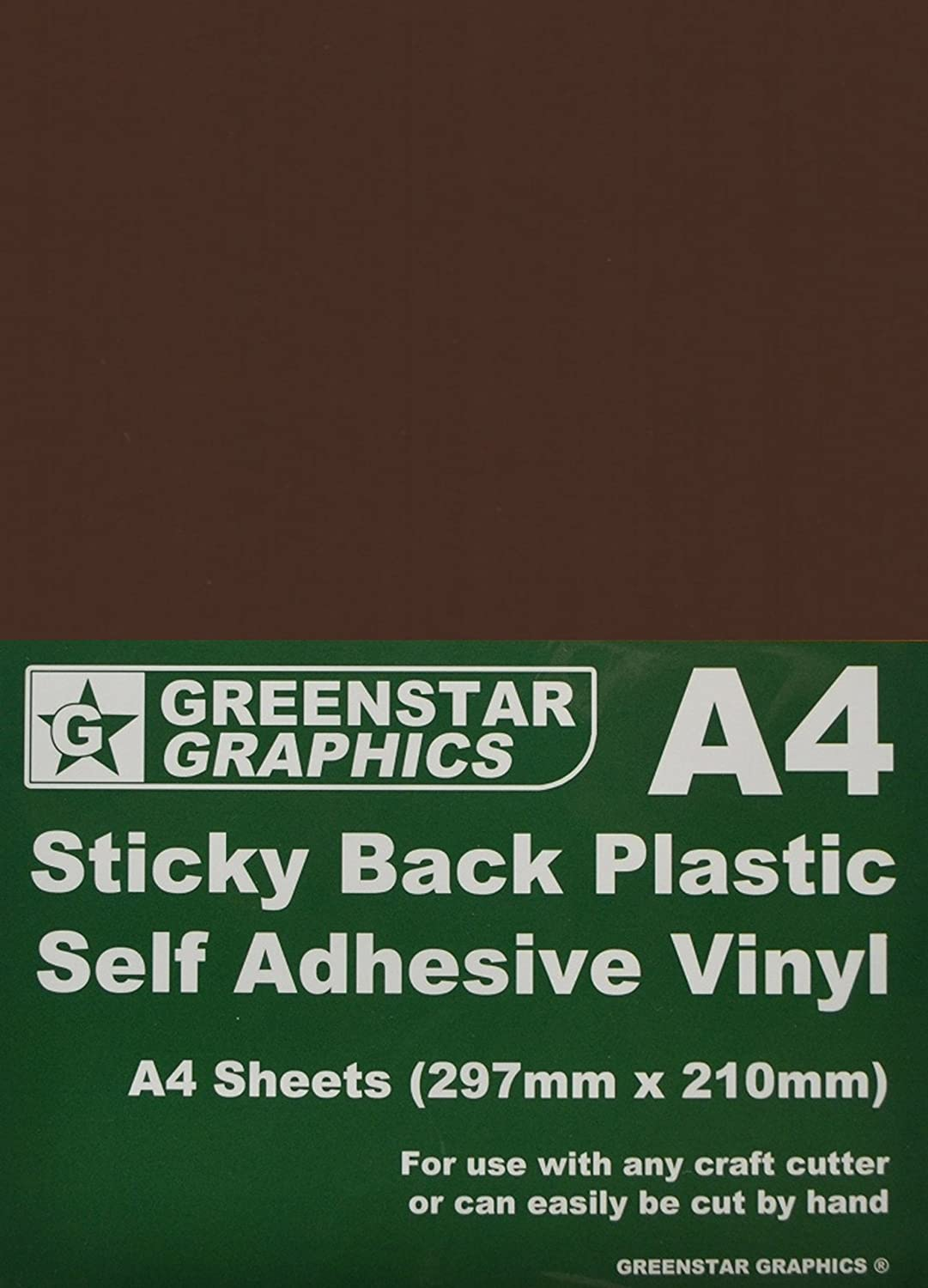 GREENSTAR GRAPHICS ® 10 SHEET PACKS A4 Self Adhesive Craft Vinyl (Sticky Back Plastic) Suitable for Silhouette Cameo/Curio/Portrait & Scan N Cut (A4 BEIGE GLOSS 10)