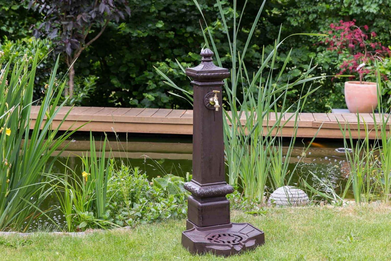 Waschbecken Brunnen Standbrunnen 59cm Alu Löwe Garten Nostalgie Stil fountain