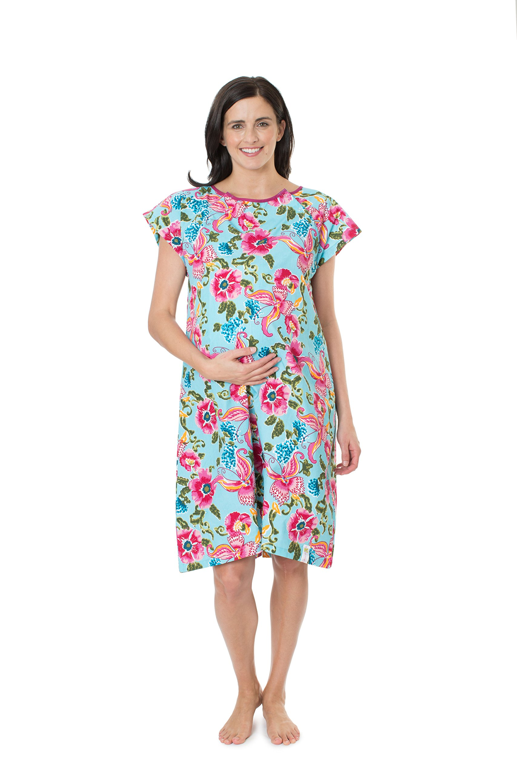 c8eada5ec11a0 Baby Be Mine Gownies - Designer Hospital Gown Labor Kit (Large/X Large  prepregnancy 10-18, Isabelle Gownie with matching pilowcase) < Sleep &  Lounge ...