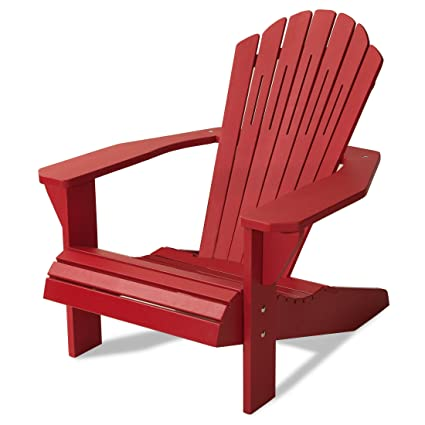 Gentil Majestic Home Goods Laguna Collection Adirondack Chair, Red