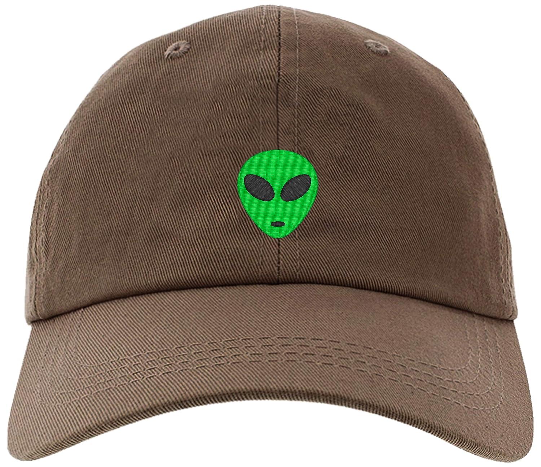 4afa4190f3c Amazon.com  Cap Embroidered Green Alien Cap