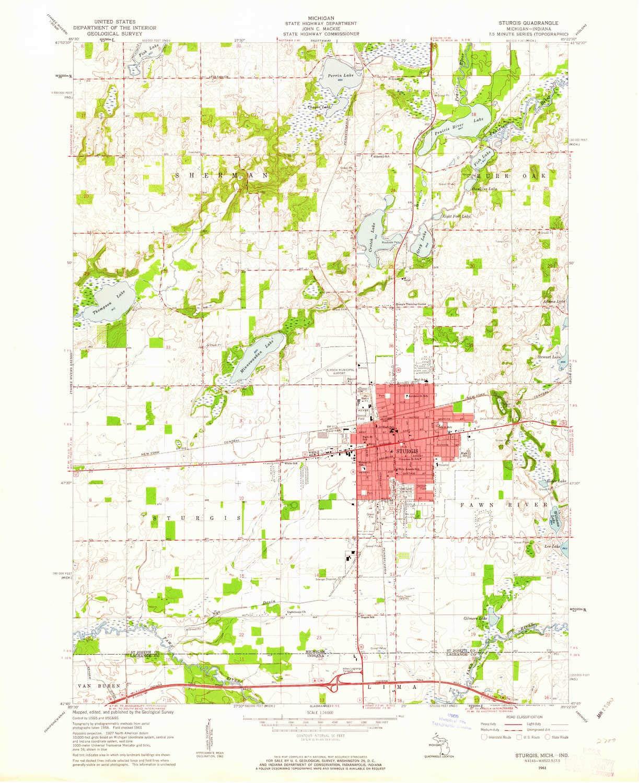 Amazon Com Yellowmaps Sturgis Mi Topo Map 1 24000 Scale