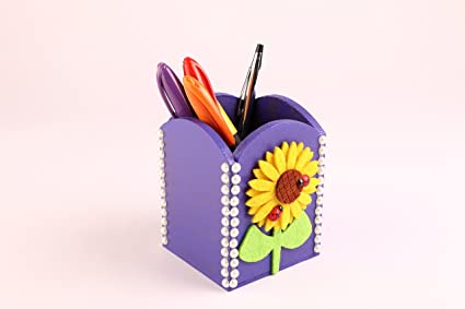 Buy Funtrunk Wooden Pen Stand Art Craft Material For Kids