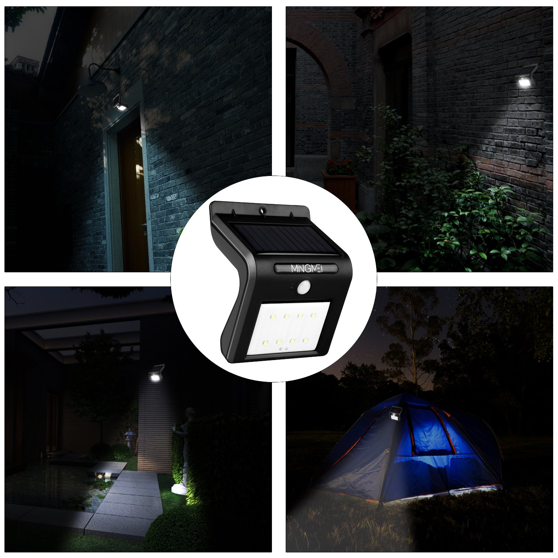 8 LED Solarleuchte mit Bewegungsmelder, Tegrace Wetterfeste Solarleuchte Garten, 8 Helle LED Solarlampe Außenleuchten für Garten usw (2 Stück)