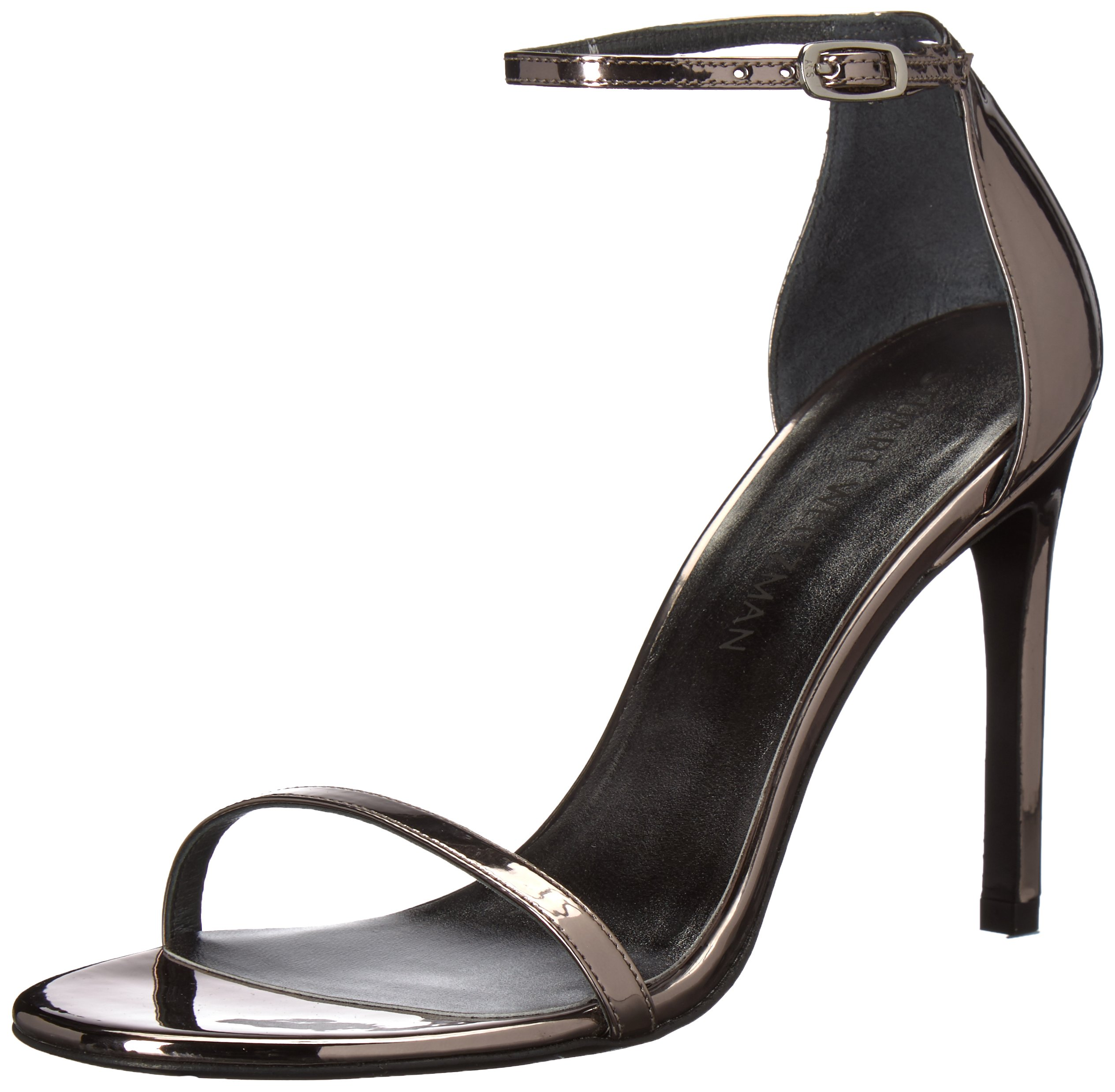 Stuart Weitzman Women's Nudistso Heeled Sandal, Pewter Glass, 5.5 Medium US by Stuart Weitzman