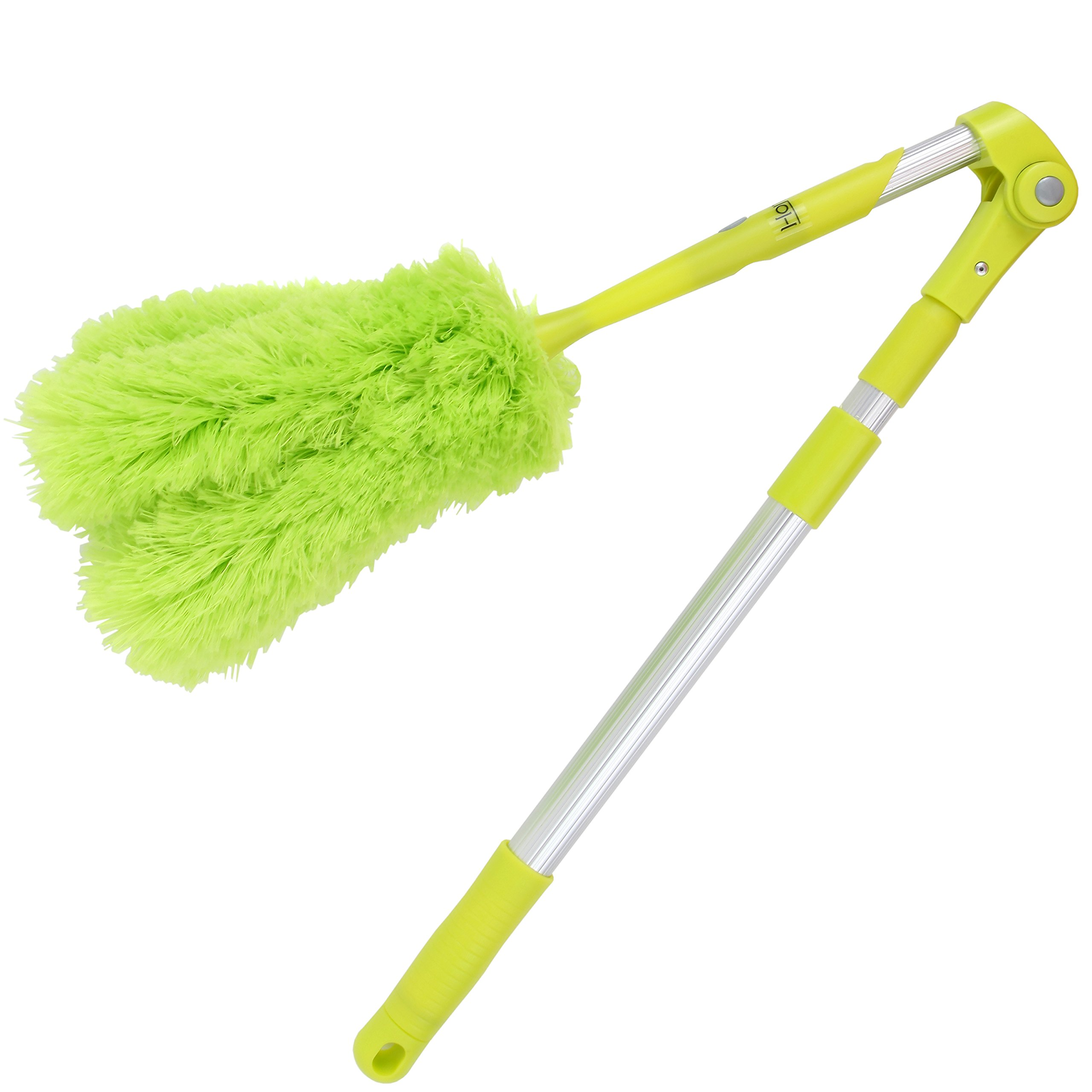 Lightweight Microfiber Duster With Extension Pole, Washable, Bendable, Hypoallergenic Lint Free Cleaning, With Long Extendable & Retractable Telescopic Pole, For Ceiling, Fan, Bulbs & Wall Dusting