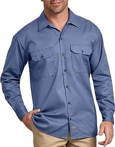 Dickies - Camisa con Manga Larga para Hombre, Color Azul Cielo, Talla XL: Amazon.es: Ropa y accesorios